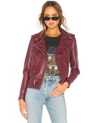 Urban Outfitters - Lightweight Easy Rider Jacket In Burgundy - Lyst