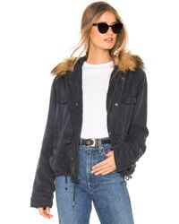 Young Fabulous & Broke - Wells Crop Jacket With Faux Fur Lining - Lyst