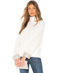 Alice + Olivia - Gemini Turtleneck Sweater In White - Lyst
