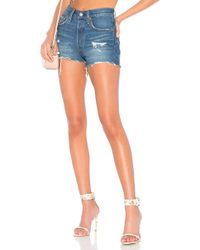 Levi's - 501 High Rise Short In Blue - Lyst