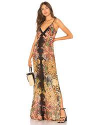 Free People - Wildflower Printed Slip Dress In Black - Lyst