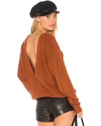Callahan - Shaker V Back Jumper In Rust - Lyst