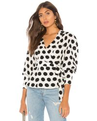 C/meo Collective - Unending Top In Ivory Spot In Black & White - Lyst