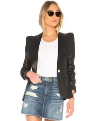 Smythe - Box Pleat Blazer In Black - Lyst