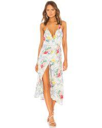 Indah - Geranium Halter Wrap Maxi Dress - Lyst