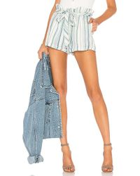 Chaser - Paper Bag Waist Shorts In White - Lyst
