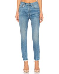 RE/DONE - Originals High Rise Ankle Crop - Lyst