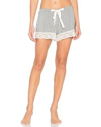 Flora Nikrooz - Snuggle Shorts In Gray - Lyst