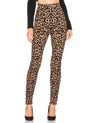 MILLY - Textured Cheetah Knit Legging In Brown - Lyst