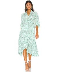 Rebecca Taylor - Long Sleeve Emerald Daisy Dress - Lyst
