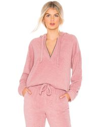 Year Of Ours - Pullover Zip Up In Mauve - Lyst