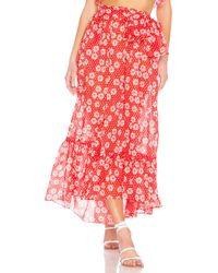 Lisa Marie Fernandez - Nicole Skirt In Red - Lyst
