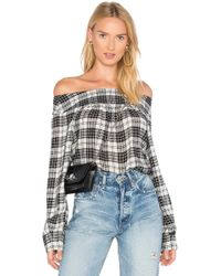 Marissa Webb - Amelie Plaid Top - Lyst