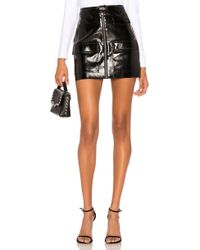 1.STATE - Crackle Patent Leather Skirt In Black - Lyst