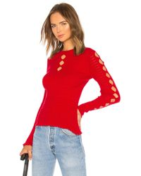 KENZO - Fitted Lacehole Sweater In Red - Lyst