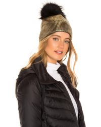 Jocelyn - Fox Fur Pom Beanie - Lyst