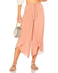 Adriana Degreas - Embroidered Toucan Pant In Mauve - Lyst