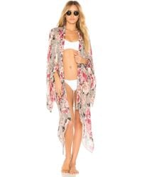 Michael Stars - Dreaming In Florals Kimono In Slate. - Lyst