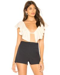 MILLY - Jemme Top In White - Lyst