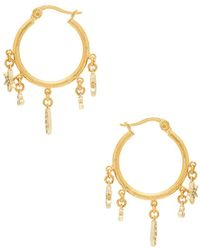 Shashi - Tori Charm Hoop Earrings - Lyst