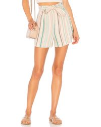 Splendid - La Paz Stripe Shorts - Lyst