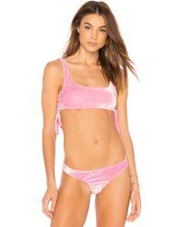 Motel - Fadel Bikini Bottom In Pink - Lyst