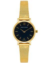 Larsson & Jennings - 5th Anniversary Lugano Solaris 26mm Watch In Metallic Gold. - Lyst
