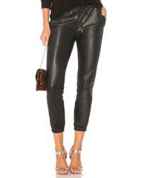 n:PHILANTHROPY - Scarlett Leather Jogger In Black - Lyst