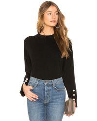 525 America - Cashmere Pullover In Black - Lyst