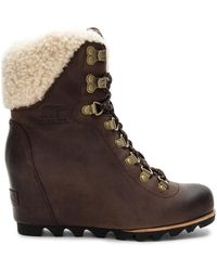 Sorel - Conquest Wedge Shearling In Brown - Lyst
