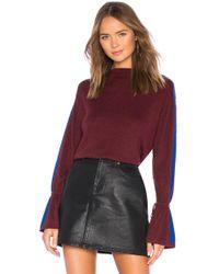 Splendid - Alpine Sweater In Burgundy - Lyst