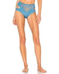 Beach Riot - Whitney High-waisted Bikini Bottom In Blue - Lyst