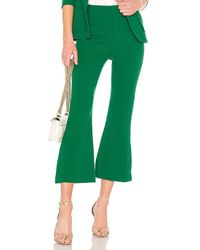 Smythe - Cropped Kick Pant In Green - Lyst