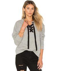 Black Orchid - Lace Up Sweatshirt - Lyst