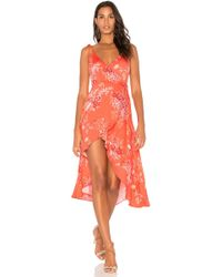 MINKPINK - Hotsprings Waterfall Wrap Dress - Lyst
