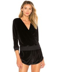 Maaji - Velour Layer Pullover In Black - Lyst
