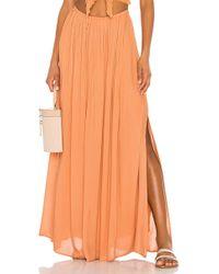 31907d9f3 Falda larga Pinko de color Naranja - Lyst