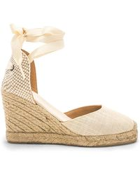 Soludos - Tall Wedge In Beige - Lyst