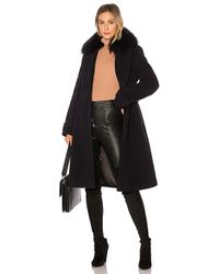 Mackage - Nia Coat With Raccoon Fur In Blue - Lyst