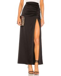 Alice + Olivia - Diana Ruched Skirt In Black - Lyst