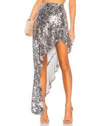 For Love & Lemons - Showtime Maxi Skirt In Metallic Silver - Lyst