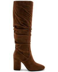 COACH - Graham Slouchy Heel Boot In Brown - Lyst