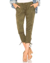 Chaser - Heirloom Lace Up Cropped Pant In Green - Lyst