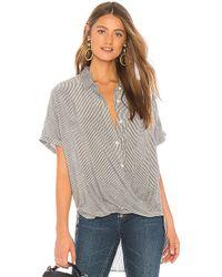BCBGeneration - Wrap Hem Dolman Sleeve Shirt In Gray - Lyst