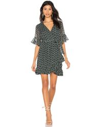 1.STATE - Flounce Flower Wrap Dress - Lyst