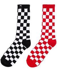 Stussy - Checker Sock Pack In Black. - Lyst