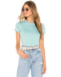 Vince - Essential Crew In Turquoise - Lyst