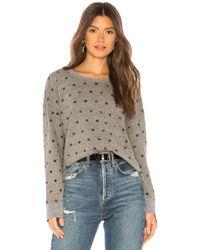 Splendid - Paint Dot Sweatshirt (heather Grey) Women's Sweatshirt - Lyst