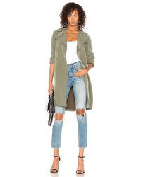 L'Agence - Elise Trench In Army - Lyst