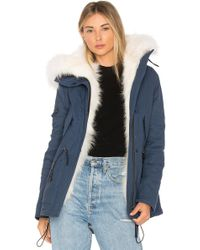 Sam. - Mini Luxe Parka With Fox Fur And Asiatic Raccoon Fur - Lyst